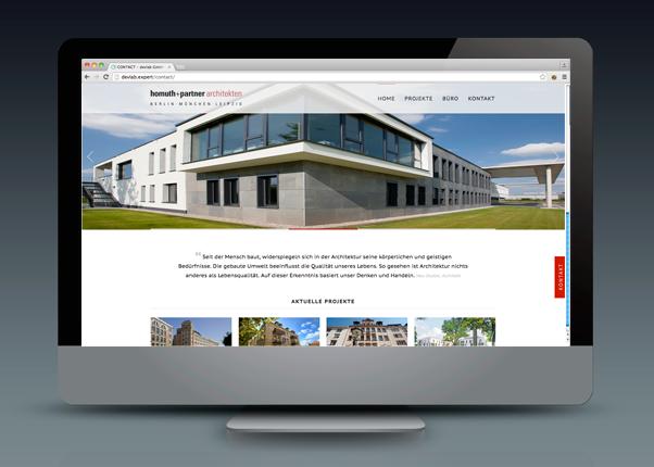 Desktopansicht der neuen Website