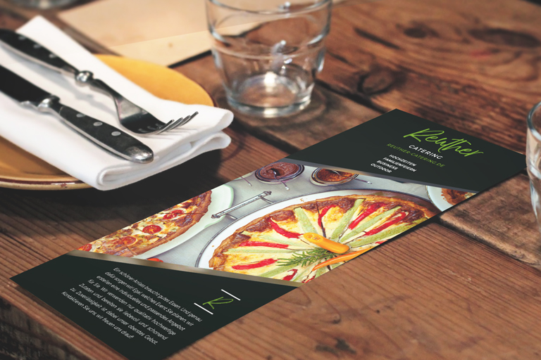 Entworfene Flyer für Gastronomie