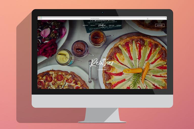 Desktopansicht der Website