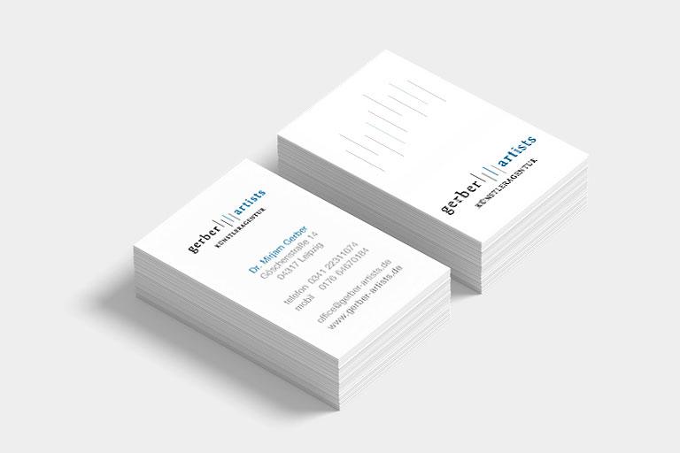 Visitenkarten mit modernem und zeitlosem Design